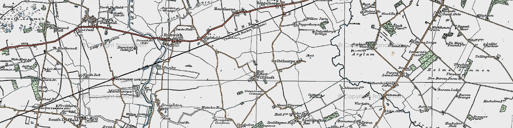 Old map of Willitoft in 1924