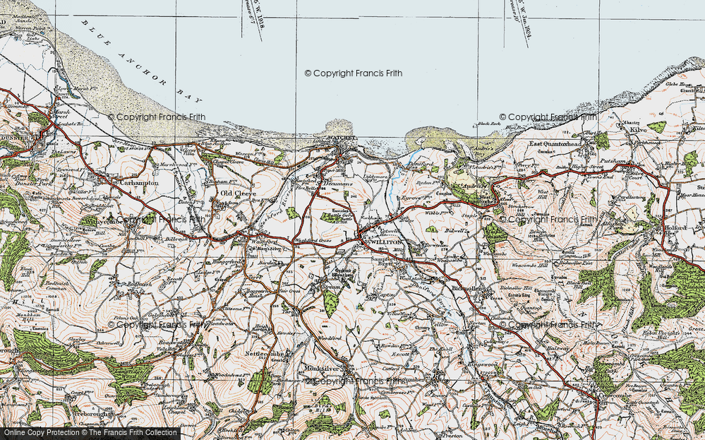 Old Map of Williton, 1919 in 1919