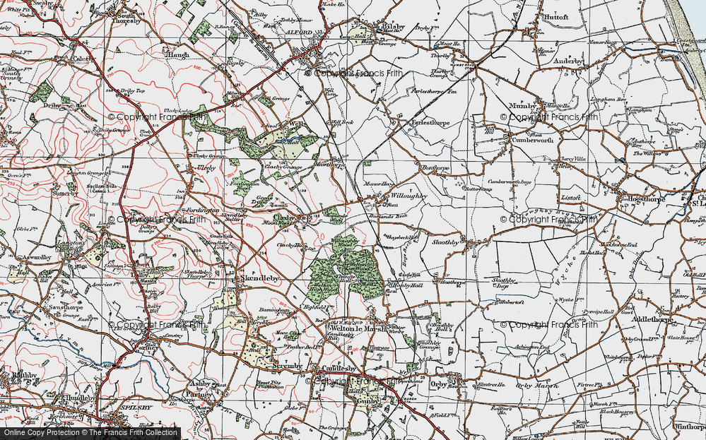Old Map of Willoughby, 1923 in 1923
