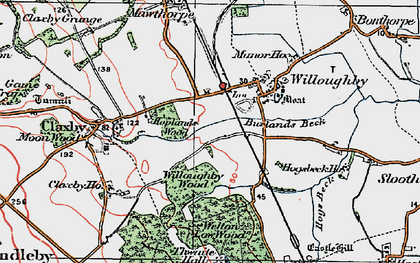 Old map of Willoughby Wood in 1923