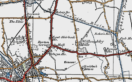 Old map of Willoughby Hills in 1922