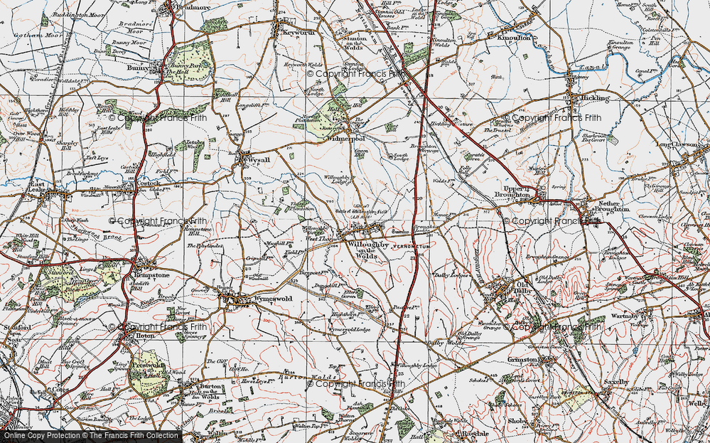 Old Maps of Willoughby-on-the-Wolds - Francis Frith