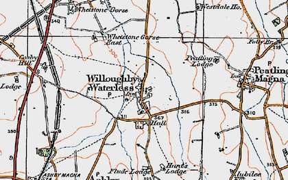 Old map of Whetstone Pastures in 1920