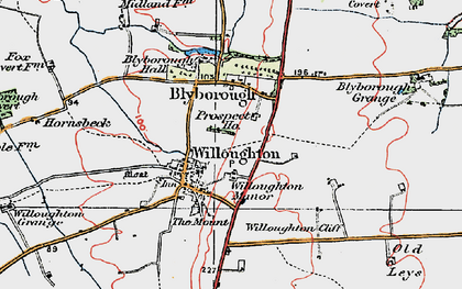 Old map of Willoughton Cliff in 1923