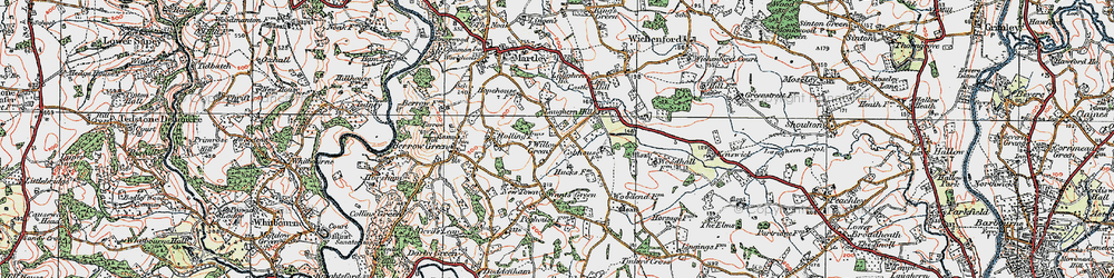 Old map of Willow Green in 1920