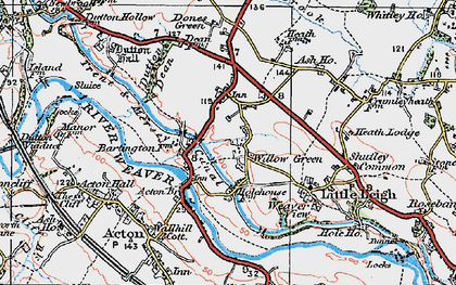 Old map of Willow Green in 1923