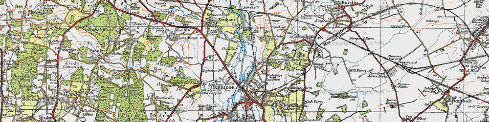 Old map of Willowbank in 1920