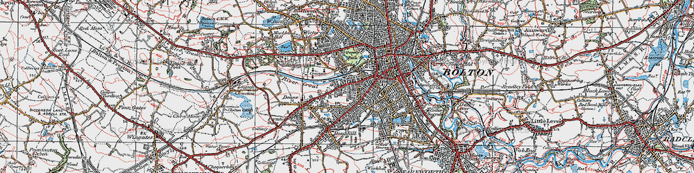 Old map of Willows in 1924