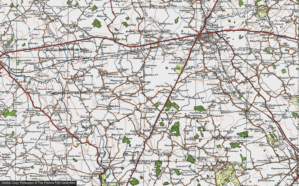 Old Map of Willows Green, 1921 in 1921