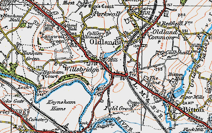Old map of Willsbridge in 1919