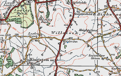 Old map of Willslock in 1921