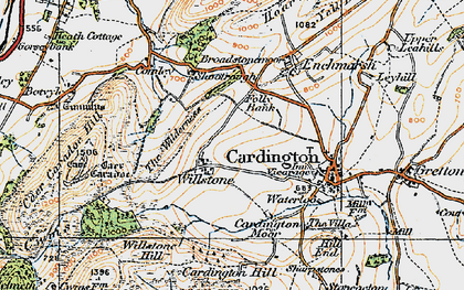 Old map of Willstone in 1921