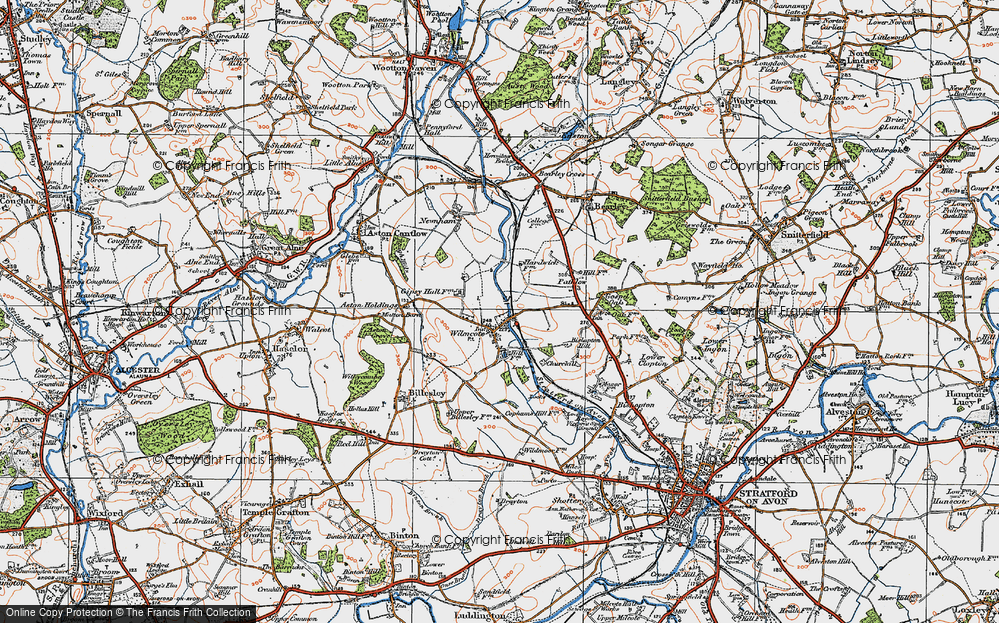 Old Map of Wilmcote, 1919 in 1919