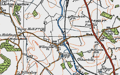 Old map of Wilmcote in 1919