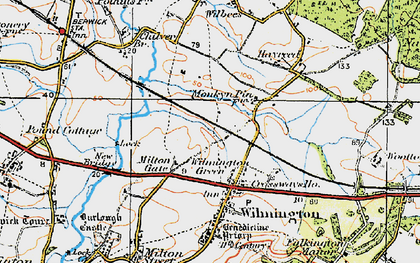 Old map of Wilmington Green in 1920