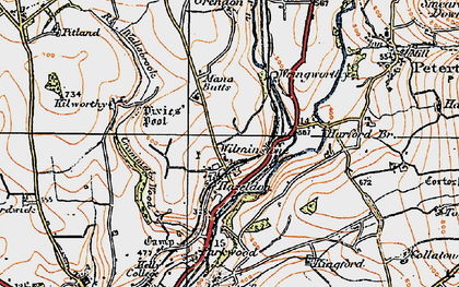 Old map of Wilminstone in 1919
