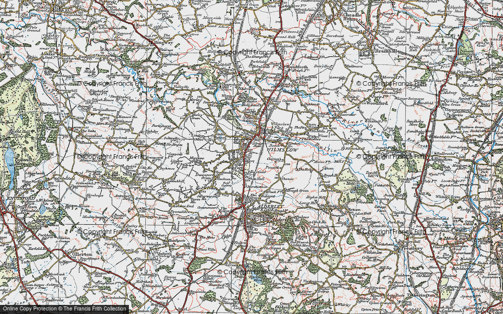 Old Map of Wilmslow, 1923 in 1923