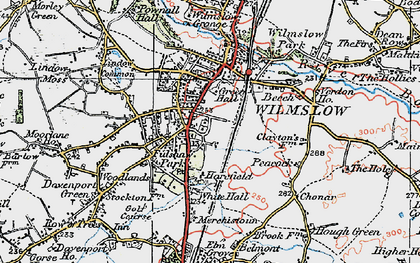 Old map of Wilmslow in 1923