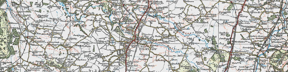 Old map of Wilmslow Park in 1923
