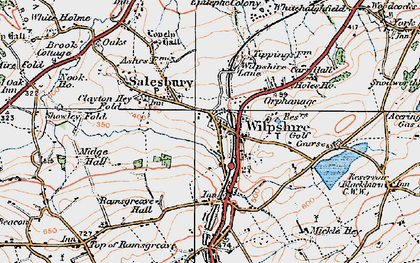 Old map of Wilpshire in 1924