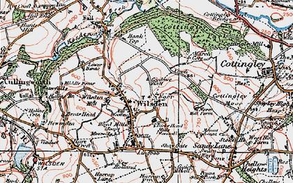 Old map of Wilsden in 1925