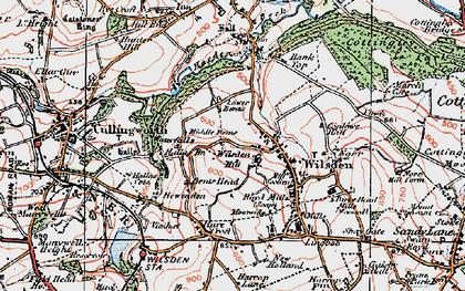 Old map of Wilsden Hill in 1925