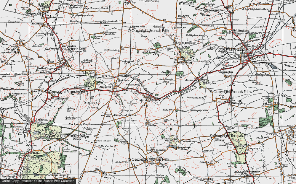 Old Map of Wilsford, 1922 in 1922