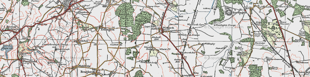 Old map of Wilsic in 1923