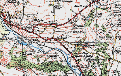 Old map of Wilsill in 1925