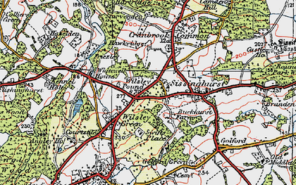 Old map of Wilsley Pound in 1921