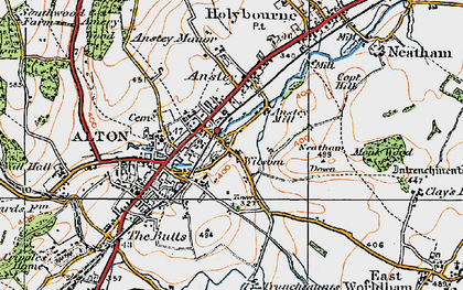 Old map of Wilsom in 1919