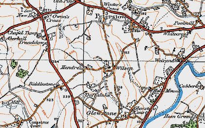 Old map of Wilson in 1919