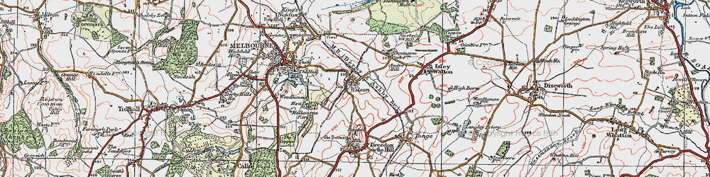 Old map of Wilson in 1921