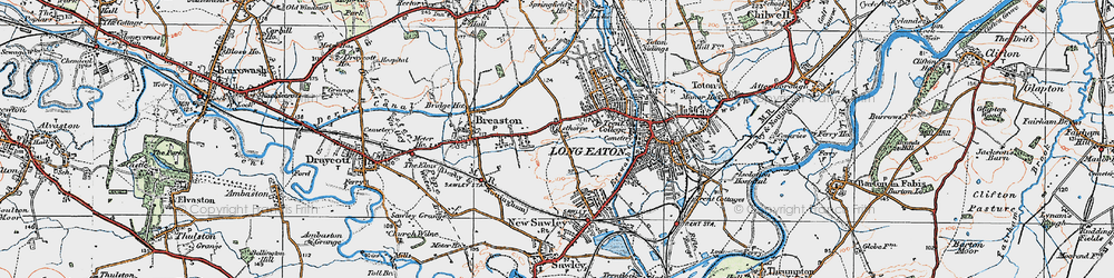 Old map of Wilsthorpe in 1921