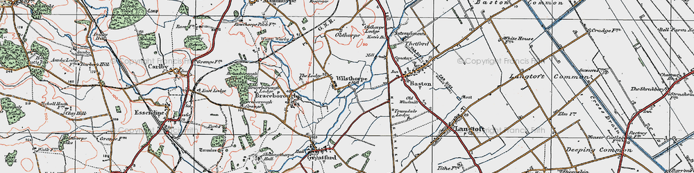 Old map of Wilsthorpe in 1922