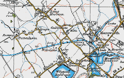 Old map of Wilstone in 1919