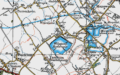 Old map of Wilstone Green in 1919