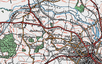 Old map of Wilthorpe in 1924