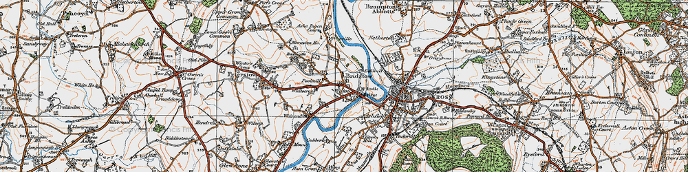 Old map of Wyelea in 1919