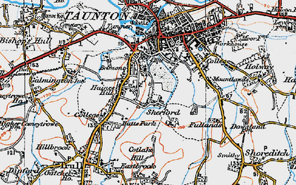 Old map of Wilton in 1919