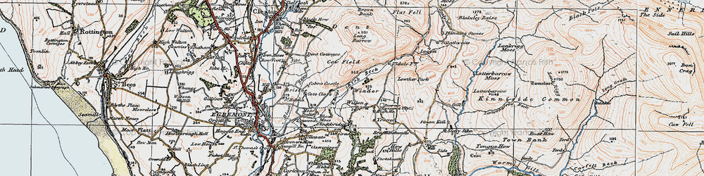 Old map of Wilton in 1925