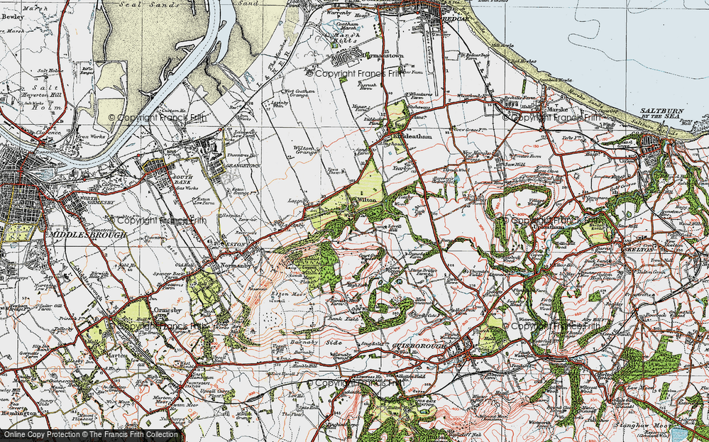 Old Map of Wilton, 1925 in 1925
