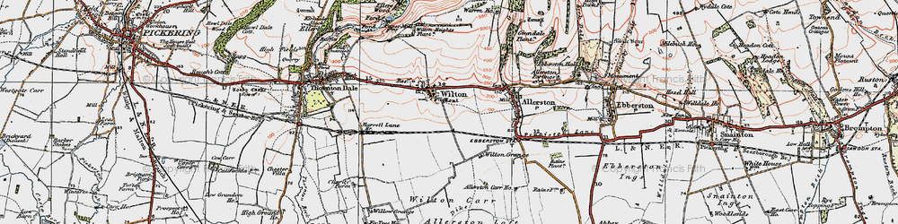 Old map of Wilton Carr in 1925