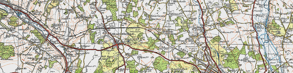 Old map of Wilton Park in 1920