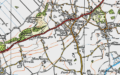 Old map of Wiltown in 1919