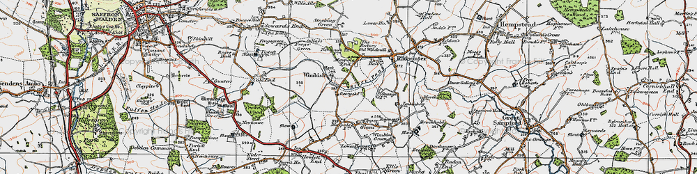 Old map of Wimbish Hall in 1920