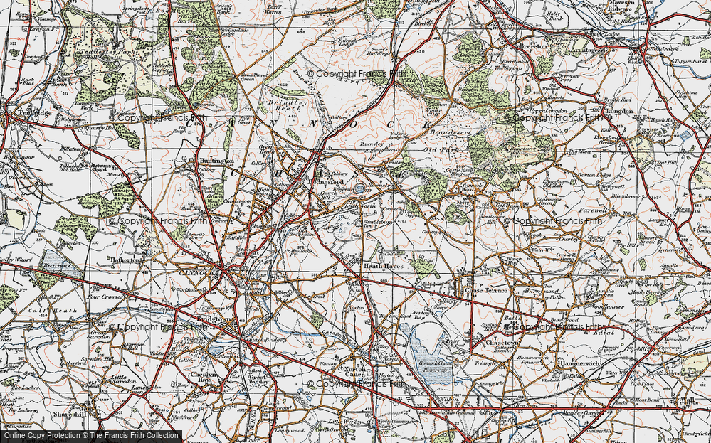 Old Map of Wimblebury, 1921 in 1921