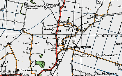 Old map of Wimblington Common in 1920