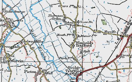 Old map of Wimbolds Trafford in 1924