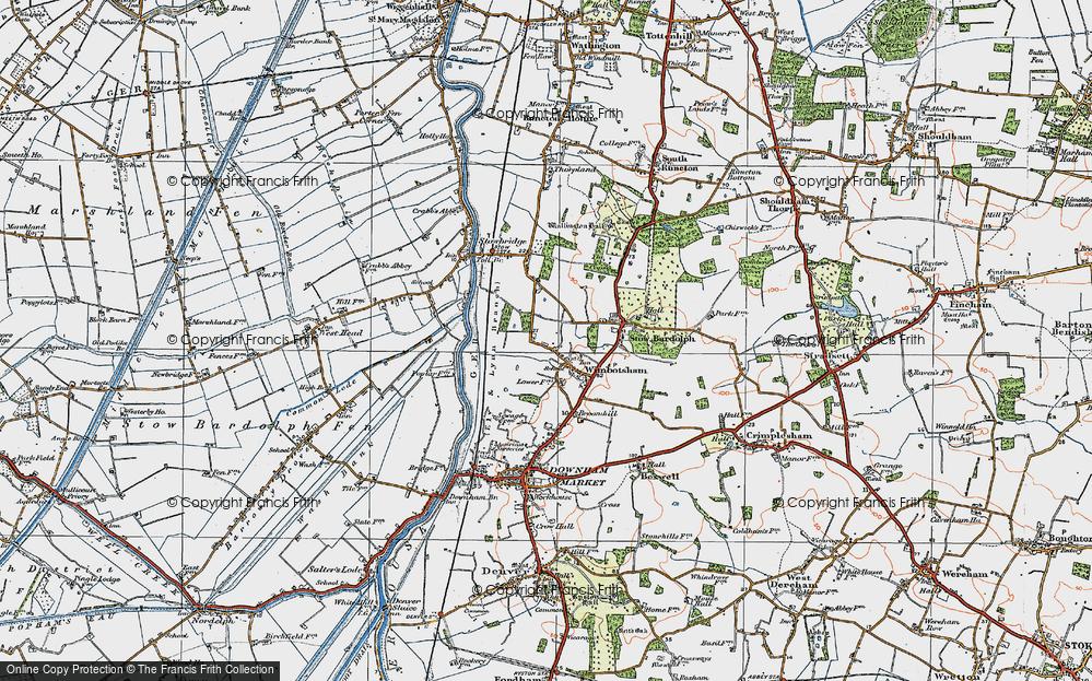 Old Map of Wimbotsham, 1922 in 1922